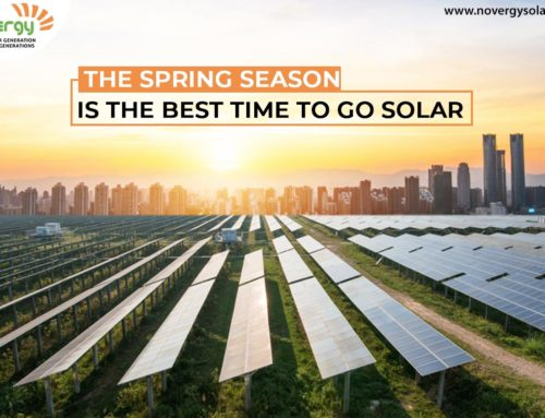 The spring season is the best time to go solar
