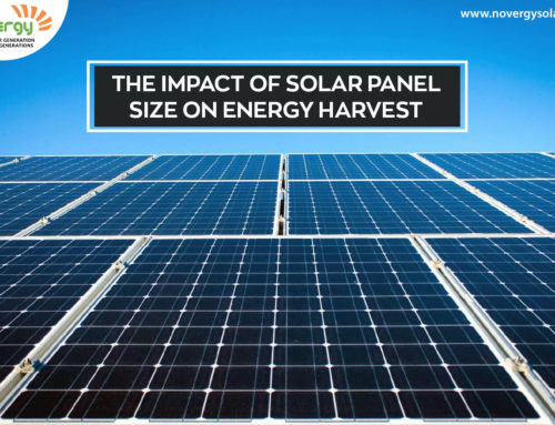 The impact of solar panel size on energy harvest